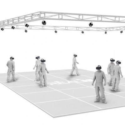 大空间VR多人交互系统