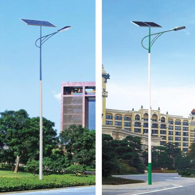 太阳能路灯批发新农村亮化6米7米8米路灯杆 户外led道路照明厂家