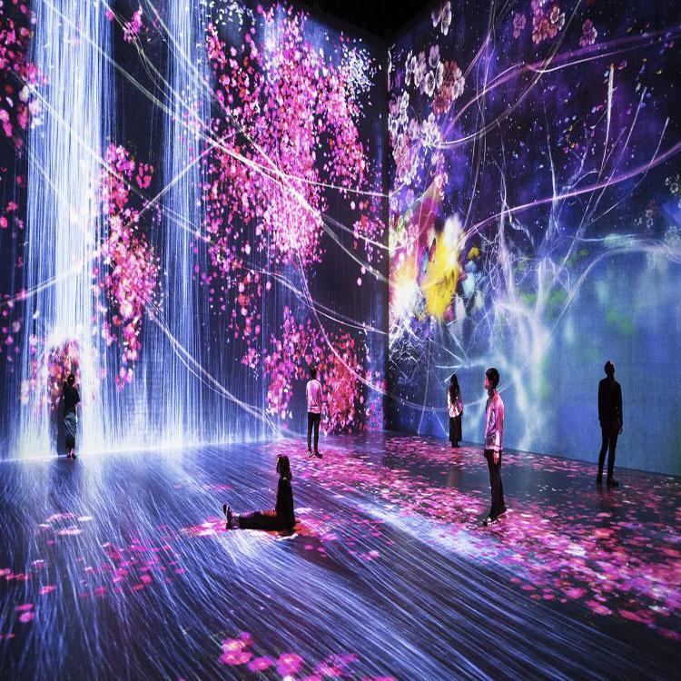 定制沉浸式互动投影地面墙面全息投影空间文旅夜游产品专业生产商