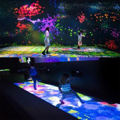 沉浸式投影直销定制网红地面AR互动室内户外游乐文旅设备全息餐厅