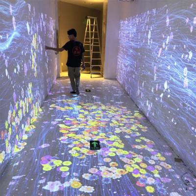 定制网红打卡体验馆3D地面墙面沉浸式AR互动全息投影设备餐厅酒店