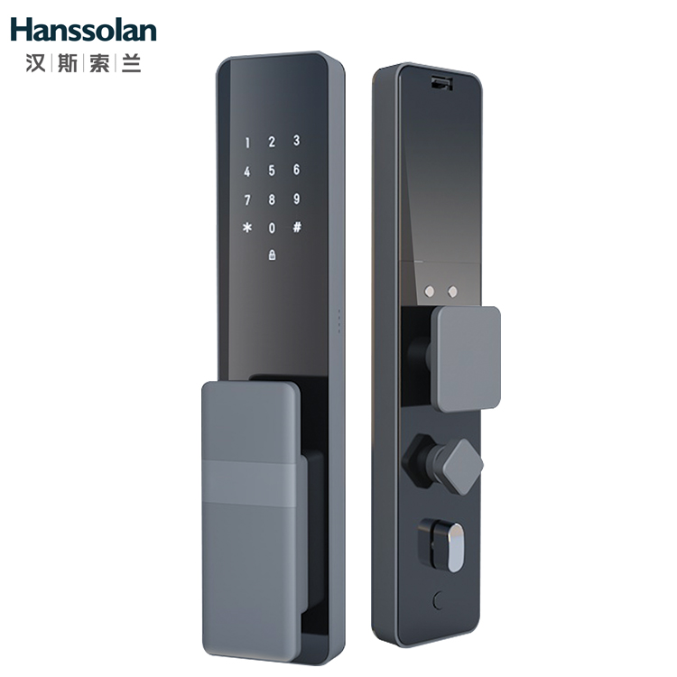 Hanssolan汉斯索兰全自动指纹锁智能门锁设置指纹锁