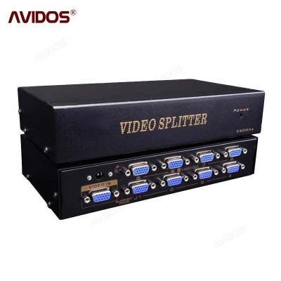 VGA分配器一分八分屏器高清视频1进8出 vga splitter 分频器