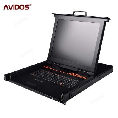 中卜 LCD kvm切换器17寸8口 kvm切换器 kvm控制机架式电脑切换器